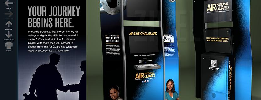 Air National Guard Kiosk Collage