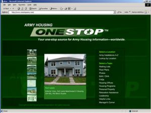 Army Housing OneStop Homepage