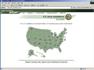 Army Housing OneStop Location Map
