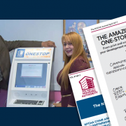 NYCHA Kiosks: NYCHA Employees with a OneStop kiosk