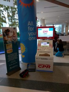 AHA CPR Training Kiosk at the Airport
