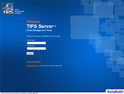 Social Security Administration Kiosk - TIPS Server Client Login Screen