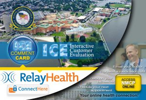 Main Menu for ICE, RelayHealth, NMCP