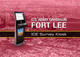 Fort Lee ICE Survey Kiosks