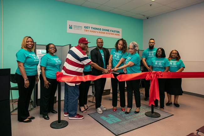 Housing Authority Baltimore City HABC My Housing Kiosks Ribbon Cutting