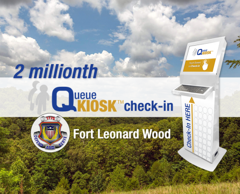 2 Millionth QueueKiosk Check-In Fort Leonard Wood