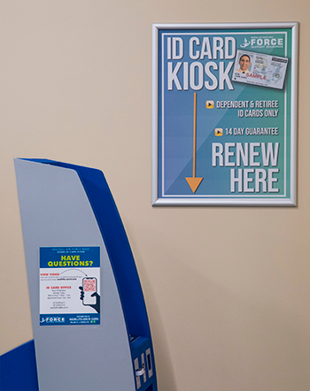 MacDill Air Force Base IDRenew Kiosk and Sign